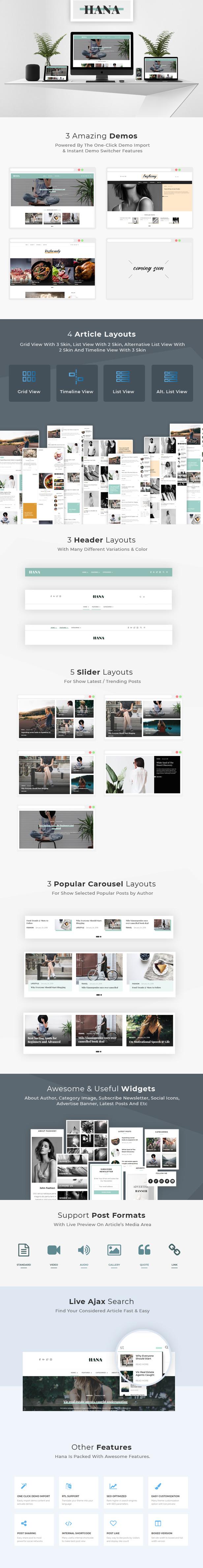 all-2 Hana - Responsive WordPress Blog Theme theme WordPress